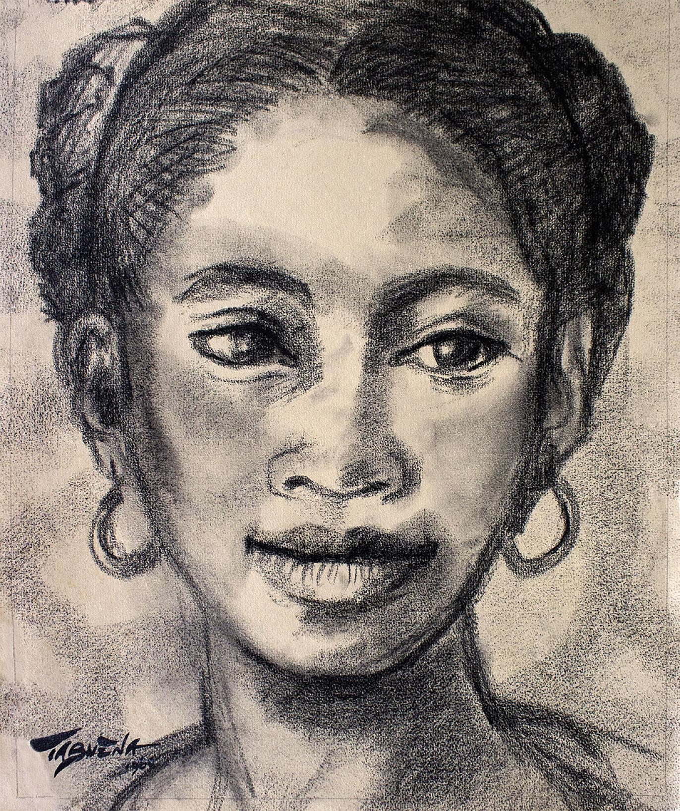 Romeo Tabuena Mujer con arracadas 1960