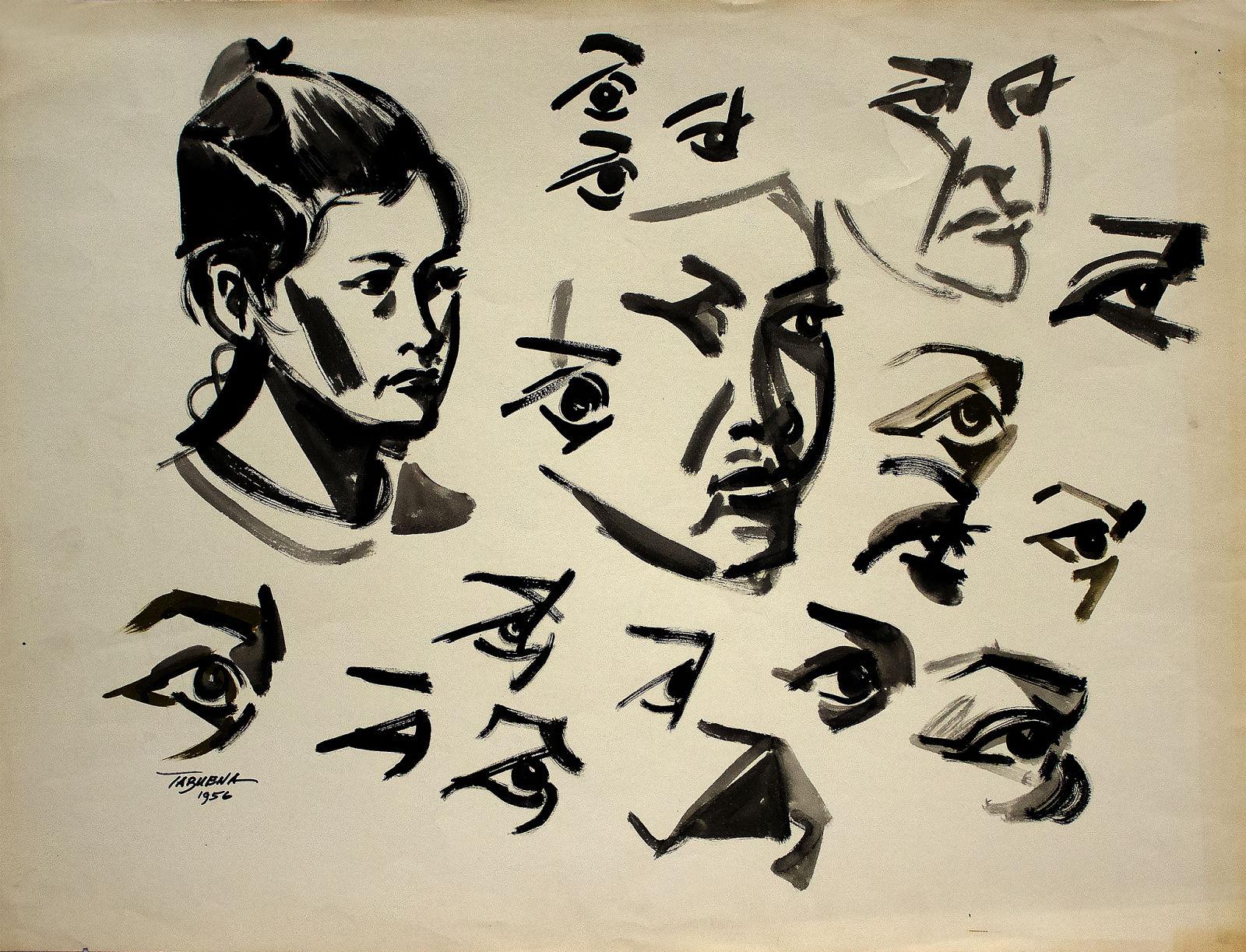 Romeo Tabuena Estudio rostro niña 1956