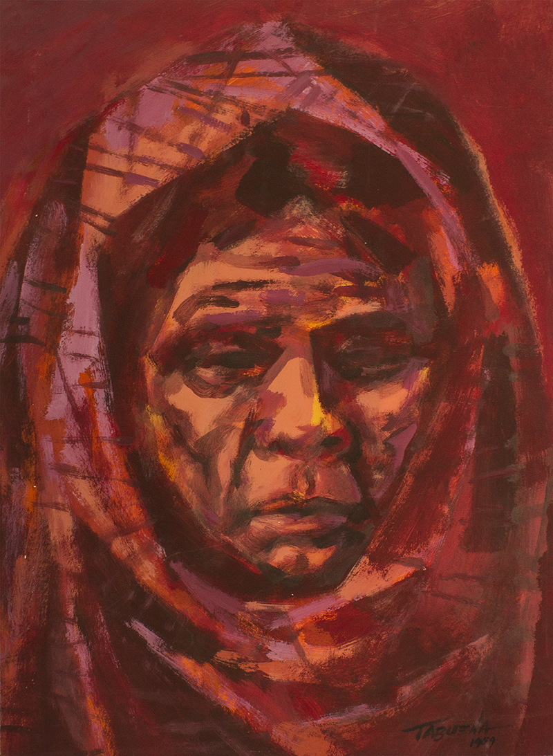 Romeo Tabuena Mujer en rojos 1959